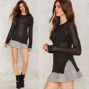 Nasty Gal Schiffer Slit Sweater